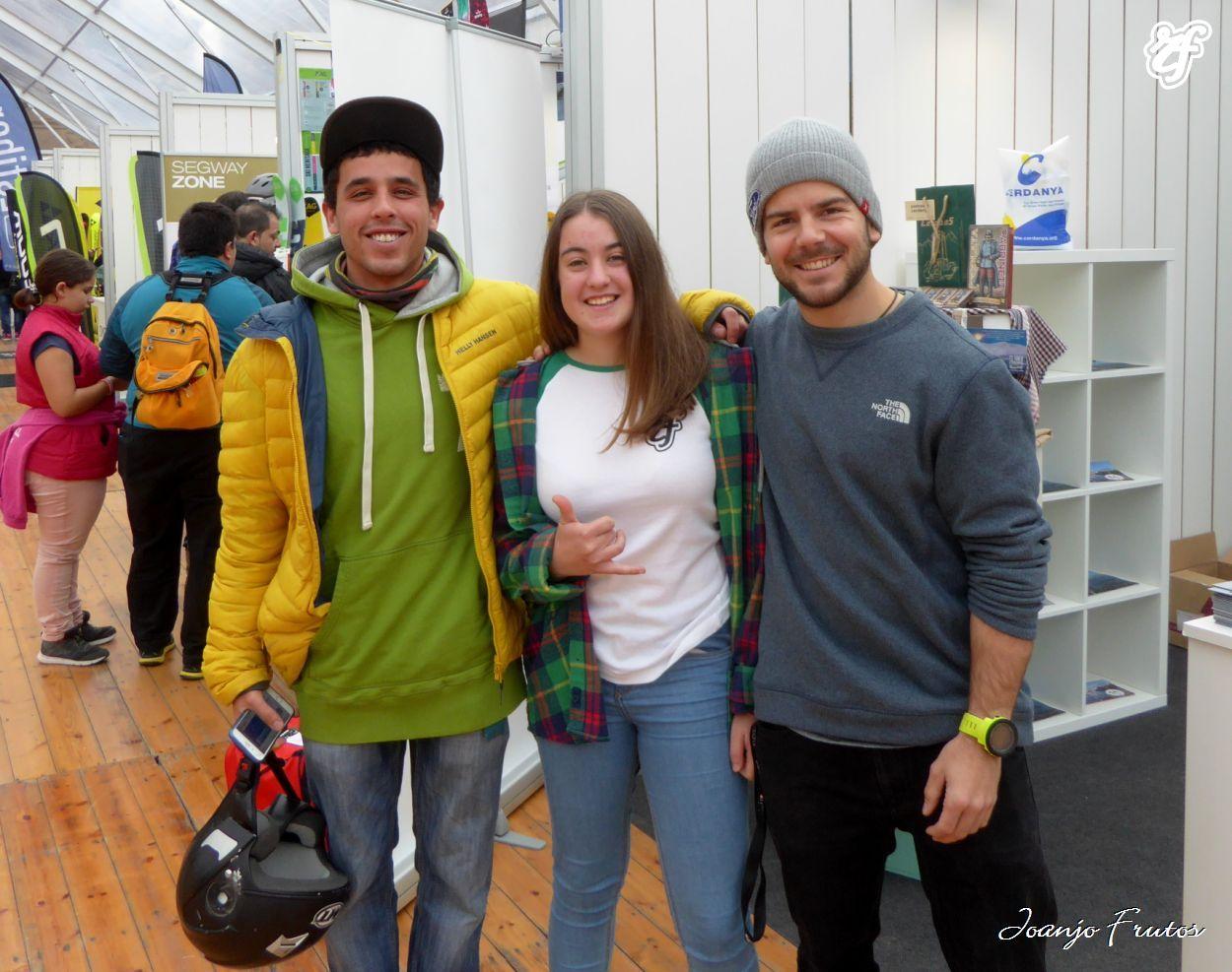 Con Adrià Millán y Aymar Navarro